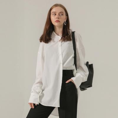 [브로우엔드] OVER FIT COWL NECK SHIRT - WHITE