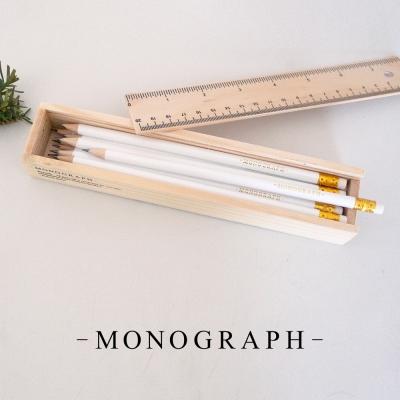 덴마크 연필 한다스 나무패키지 / 흰색 12개 / Pencil w. White