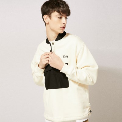LT264_Snap Anorak Sweatshirts_Cream
