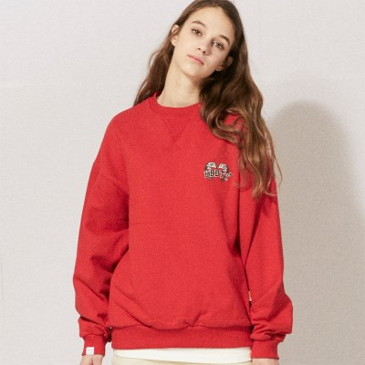 LT273_UBDTY Flag Logo Sweatshirts_Red