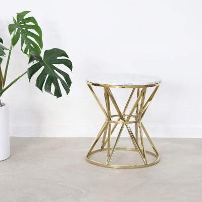 Bottega 이태리 천연 대리석 소파 사이드 테이블