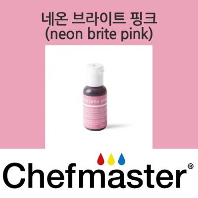 셰프마스터 리쿠아젤 식용색소 - 네온 브라이트 핑크 20g