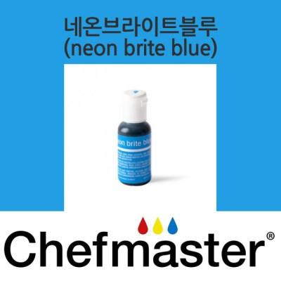 셰프마스터 리쿠아젤 식용색소 - 네온 브라이트 블루 20g
