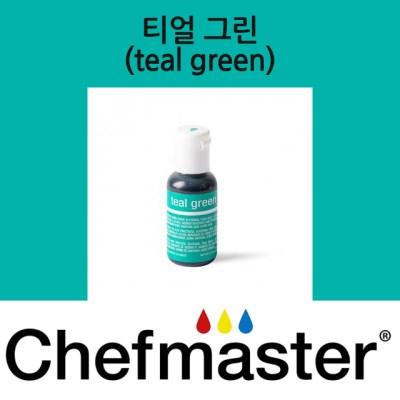 셰프마스터 리쿠아젤 식용색소 - 티얼 그린 20g