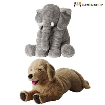 이케아 GOSIG 강아지인형/JATTESTOR 코끼리