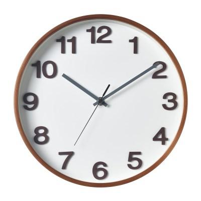 저소음 에바 넘버벽시계 (White Walnut)