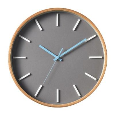 저소음 에바 인덱스벽시계 (Gray Natural)