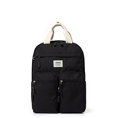 [스코노] SKONO POLY DOUBLE POCKET BACKPACK BLACK WB1_(960768)