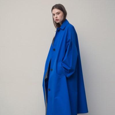 [티스오피스] 블루 와이드 오버사이즈 코트