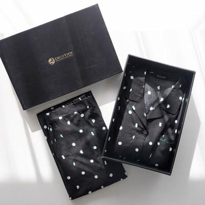 [선물세트] 그린도트 면모달 커플 파자마 세트