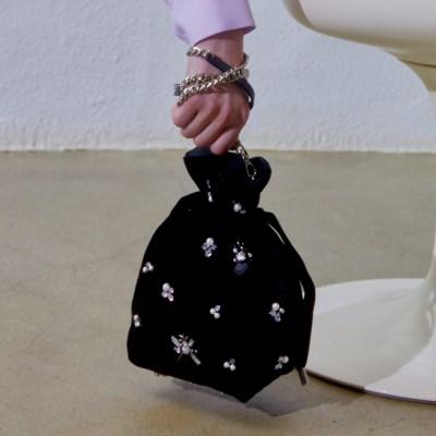 ALICE Velvet JEWELRY POUCH BAG MINI_B
