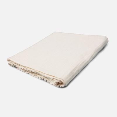 [룰라바이] Ivory Lace Gauze Blanket 아이보리 레이스 거즈 블랭킷