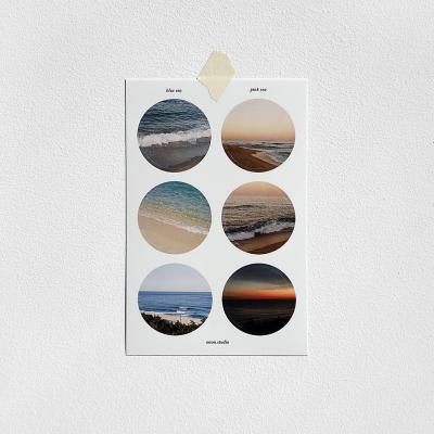 아름다운 우리나라 바다의 사계절 serise 스티커