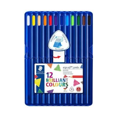 스테들러 점보 삼각색연필 158 12색 세트 158 SB12
