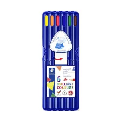 스테들러 점보 삼각색연필 158 6색 세트158 SB6