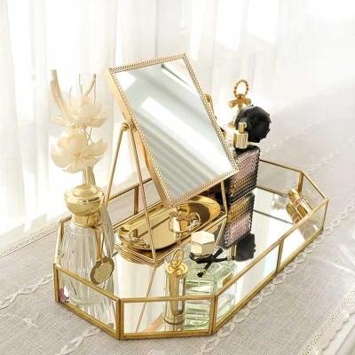 골드 메이크업 거울 2타입