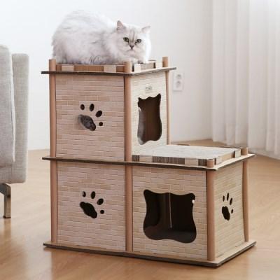 토모 고양이 스크래쳐 캣타워(3단)