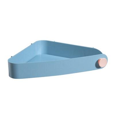 욕실 공간활용 파스텔 벽선반 삼각형 코너 수납함_(958279)