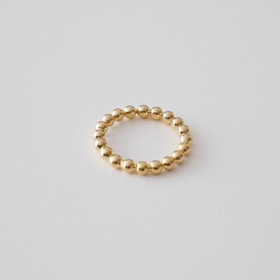 [925실버] 골드볼 반지 gold ball ring