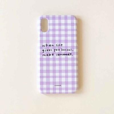 Lemonade case - lilac check