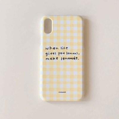 Lemonade case - yellow check