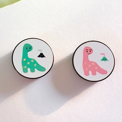 [스마트톡] 커플 다이노 with 화산 (Couple Dinosaur with Volcano)