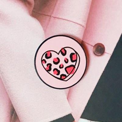 [스마트톡] 핑크 하트 레오파드 (Pink heart Leopard)