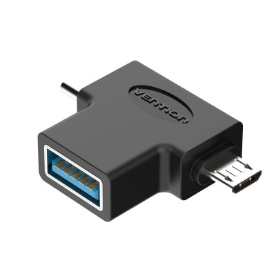 벤션 2in1 C타입 USB3.0 고속 OTG 젠더/5핀 겸용
