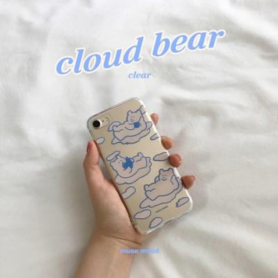 [뮤즈무드] cloud bear (clear) 아이폰케이스