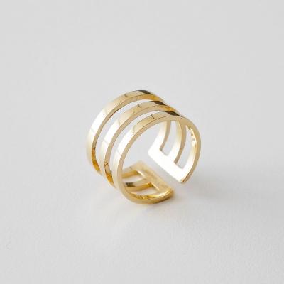 [925실버] 3라인 골드 반지 3line gold ring