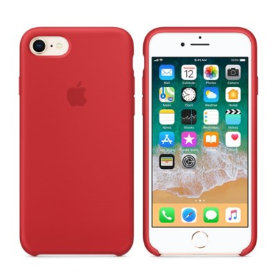 iPhone 8 / 7 실리콘 케이스 - (PRODUCT)RED MQGP2FE/A