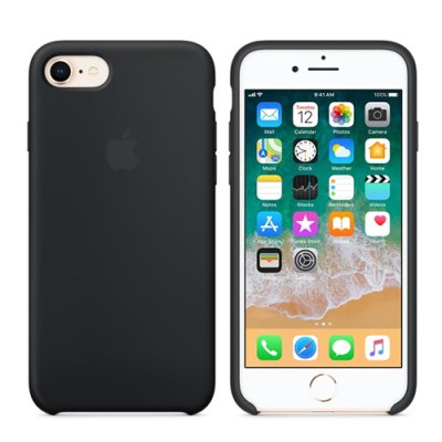 iPhone 8 / 7 실리콘 케이스 - 블랙 MQGK2FE/A