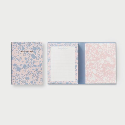 Memo Pad Dual (Marblings) Set of 2