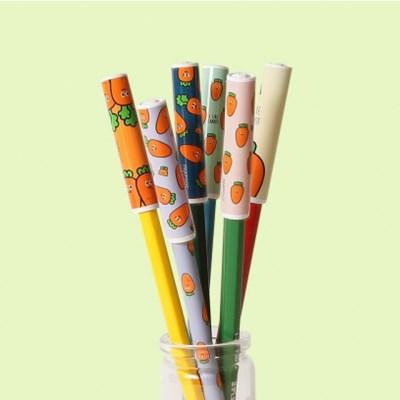 핑크풋 당근패턴 연필캡(6P)