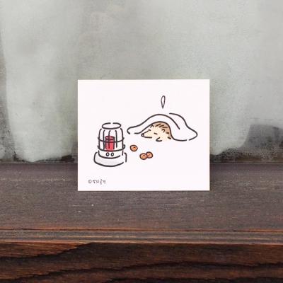 [달의공간] 스티커세트-치즈와겨울