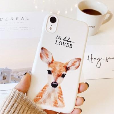 헬로디어 꽃사슴 핸드폰케이스 / 아이폰 갤럭시 XS XR S8 S9