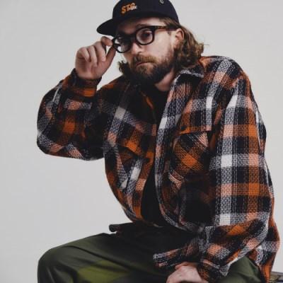[자카드]Jacquard shirts jacket_ORANGE