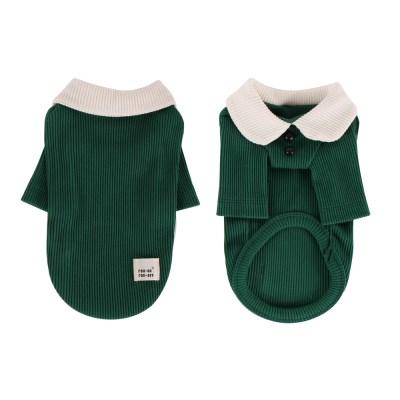 [T.삼각골지카라티셔츠]triangle golgi collar T_Green