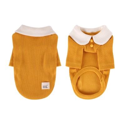 [T.삼각골지카라티셔츠]triangle golgi collar T_Yellow