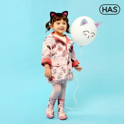 [HAS] 아동 레인코트_야옹고양이 핑크