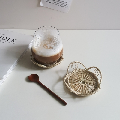 라탄 플라워 코스터 컵받침