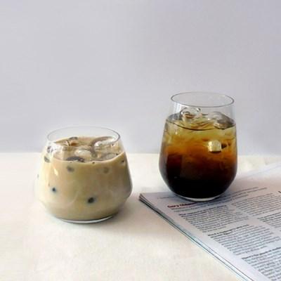 뚱뚱이 카페 유리컵,맥주잔,쥬스잔,아이스컵