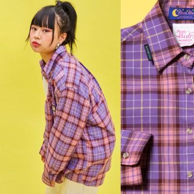 19SP CHECK SHIRT Purple