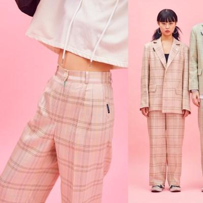 19SP CHECK PANTS Pink