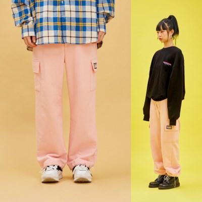 COTTON POCKET PANTS Pink