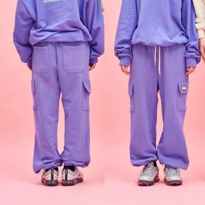 COTTON POCKET PANTS Purple