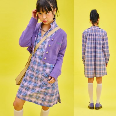 19SP FRILL OPS Check Purple
