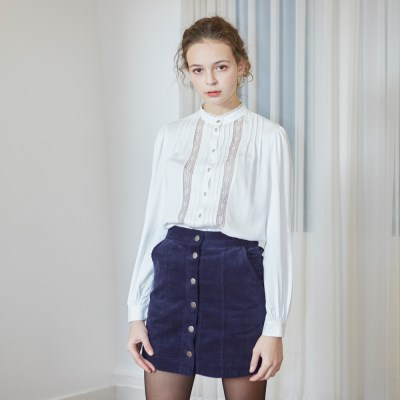 [벰버] CORDUROY MINI SKIRT_NAVY