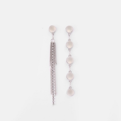 [쥬디앤폴] 알리제 볼드 체인 아게이트 드롭 언발 귀걸이 E50752