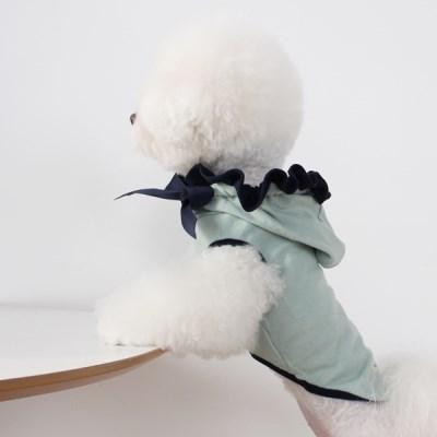 [T.프릴리본후드]Frill ribbon hood_Navy